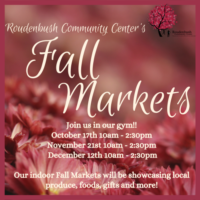 Roudenbush Community Center Fall Market