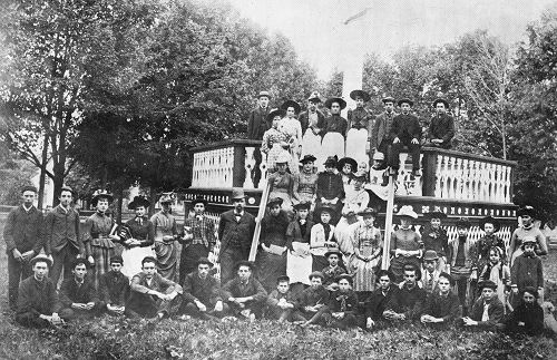 The Bandstand on the Westford Common, c. 1890 .Click for larger view.