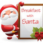 Breakfast with Santa clip art