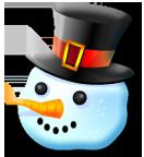 snow man head