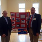 Mike Beek and John Flangan - Rotary Water Project exhibit at FPCU Service Feb 28 2016